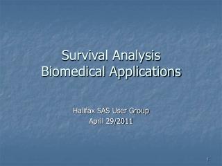 Survival Analysis  Biomedical Applications
