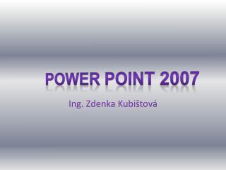 Ing. Zdenka Kubištová