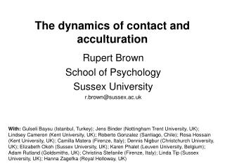 The dynamics of contact and acculturation
