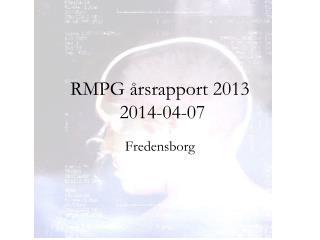 RMPG årsrapport 2013  2014-04-07