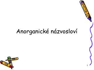 Anorganické názvosloví