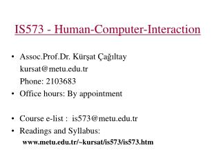 IS 573 - Human-Computer-Interaction