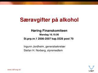 Særavgifter på alkohol