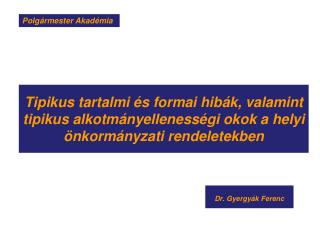 Dr.  Gyergyák  Ferenc