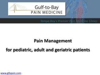 Pain Syndrome Treatment