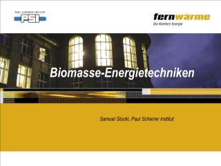 Biomasse-Energietechniken