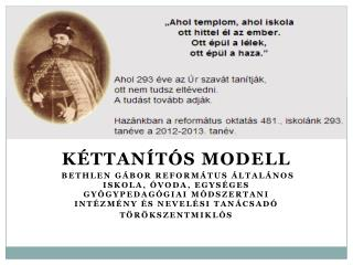 Kéttanítós modell