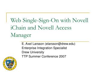 Web Single-Sign-On with Novell iChain and Novell Access Manager