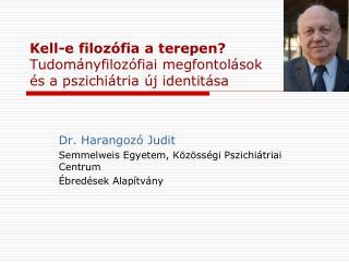 Dr. Harangozó Judit Semmelweis Egyetem, Közösségi Pszichiátriai Centrum Ébredések Alapítvány