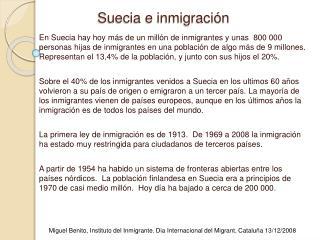 Suecia e inmigraci n