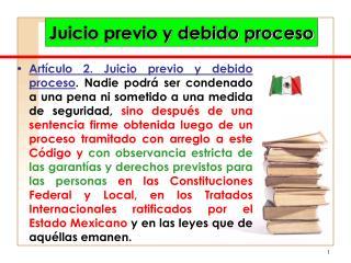 Juicio previo y debido proceso