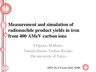 Measurement and simulation of radionuclide product yields in iron from 400  AMeV  carbon ions