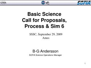 Basic Science  Call for Proposals, Process & Sim 6