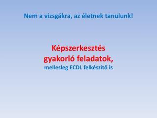Képszerkesztés gyakorló feladatok, mellesleg ECDL felkészítő is