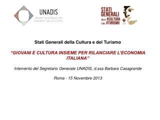 Stati Generali della Cultura e del Turismo