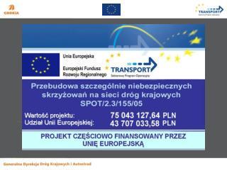 Projekt SPO-T nr: SPOT/2.3/155/05 Mapa z lokalizacją skrzyżowań