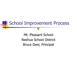 School Improvement Process