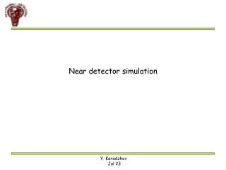 Near detector simulation