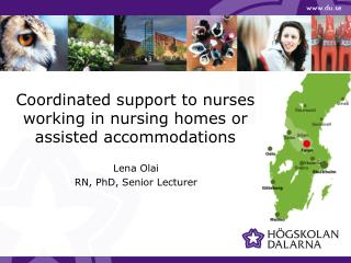 Coordinated support to nurses working in nursing homes or assisted accommodations