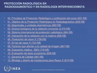 PROTECCIÓN RADIOLÓGICA EN  RADIODIAGNÓSTICO Y EN RADIOLOGÍA INTERVENCIONISTA