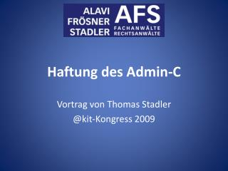 Haftung des Admin-C