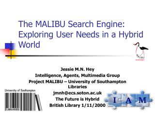 The MALIBU Search Engine: Exploring User Needs in a Hybrid World