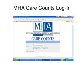 MHA Care Counts Log-In