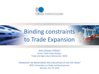 Binding constraints to Trade Expansion