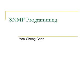 SNMP Programming