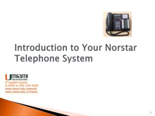 Introduction to Your  Norstar  Telephone System