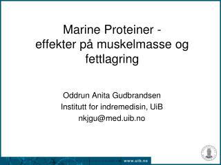 Marine Proteiner - effekter på muskelmasse og fettlagring
