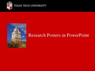 Research Posters in PowerPoint