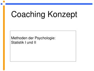 Coaching Konzept