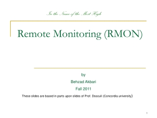 Remote Network Monitoring RMON