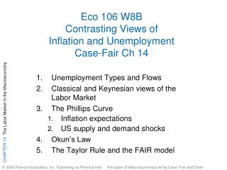 Eco 106 W8B Contrasting Views of Inflation and Unemployment Case-Fair Ch 14