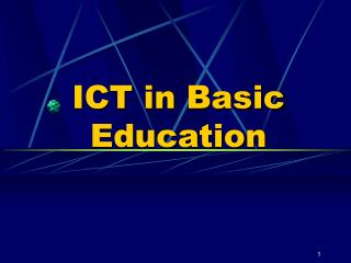ICT in Basic Education