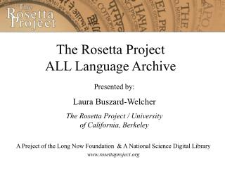The Rosetta Project ALL Language Archive