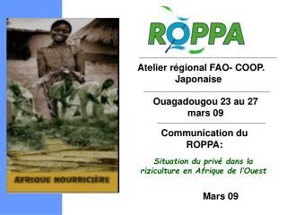 Atelier r�gional FAO- COOP. Japonaise �