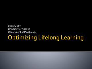 Optimizing Lifelong Learning