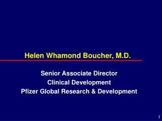 Helen Whamond Boucher, M.D.