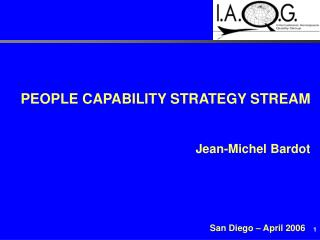 PEOPLE CAPABILITY STRATEGY STREAM   Jean-Michel Bardot