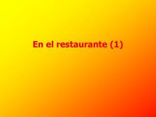 En el restaurante (1)