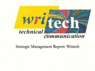 Strategic Management Report: Writech