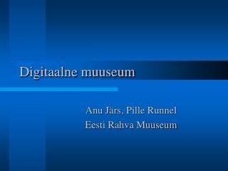 Digitaalne muuseum