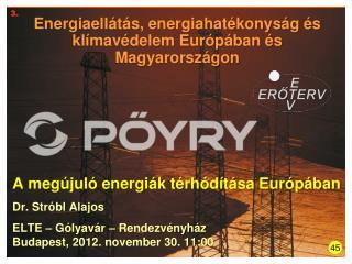 Energiaellátás, energiahatékonyság és klímavédelem Európában és Magyarországon