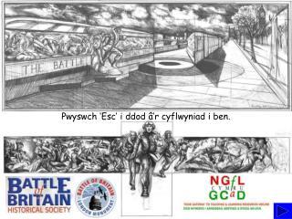 Pwyswch 'Esc' i ddod â'r cyflwyniad i ben.