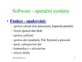 Software - operační systémy