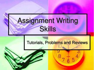 Assignment Writing Skills