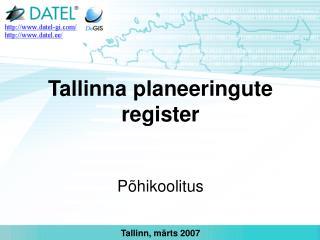 Tallinna planeeringute register