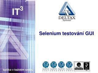 Selenium testování GUI